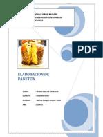 TECNOLOGÍA Y PARÁMETROS DE PROCESO DEL PANETONbvbv