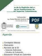 Webinar  2013 Avances de la Medición del e-learning en Instituciones de Educación Superior Colombianas DMCR