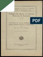 1924 Contributo Alla Conoscenza Degli Isopodi Della Catalogna