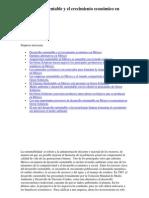 Desarrollo sustentable y el crecimiento económico en México