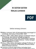 Kuliah Sosiologi (5) - Teori Sistem