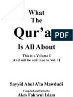 What the Qur'an is All About Vol.I With Arabic