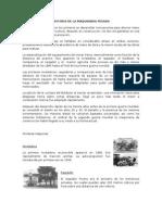 Historia de La Maquinaria y Equipo de Construccion