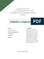 Grupo 3 Solidaridad y Complementariedad