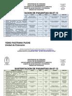 SUSTENTACION PASANTÍAS 08 y 09-07-2013