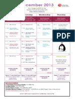 Jessie's - December 2013 Calendar