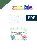 Classroom Rules- EDEL 483