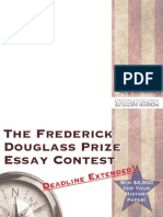 Win $2,500! The Frederick Douglass Prize US History Essay Contest - DEADLINE EXTENDED
