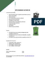 Procedimiento Manejo Altair 4X MSA Colombia