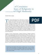 Paradojas de La Religiosidad Actual
