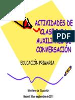 2011 Actividades Clase Auxiliares Primaria Espanol