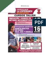 Afiche Del Curso de Capacitacion Luis.