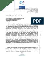 16 RESPUESTA de La Dirección General de Profesiones a la Impugnación del Resolutivo de esta Unidad Administrativa,
