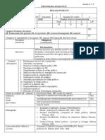 Programa Relatii Publice 2007-2008
