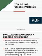 EVALUACION DE LOS PROYECTOS DE INVERSIÓN PUBLICA