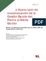 modelo de calidad educativa de Nuevo León