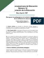 pedagogía en la calidad de la educación