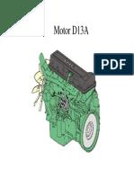 Slides. Motor D13A