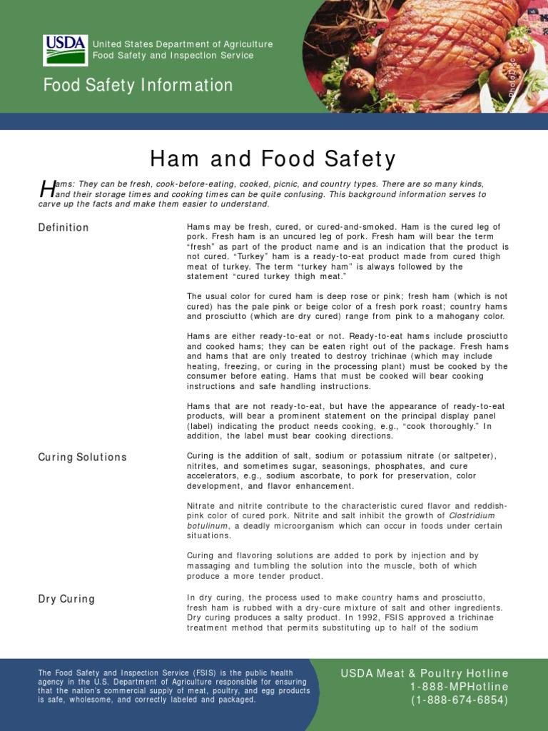 Ham and Food Safety | Ham | Curing (Food Preservation)