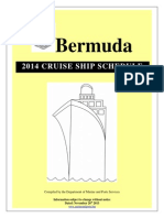 2014 Cruise Ship Schedule Modified Nov 26th