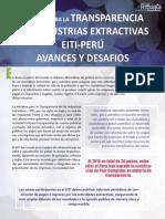 Iniciativa para la Transparencia de las Industrias Extractivas EITI-PERÚ Avances y Desafíos