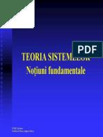Curs 1 Teoria Sistemelor