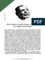 Adam Fairclough - Was Martin Luther King a Marxist?