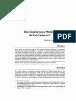 LUDUEÑA, Gustavo - Dos experiencias místicas de lo numinoso