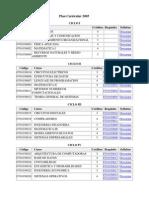 Plan Curricular 2005