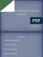 Impression Materials for Partial Denture