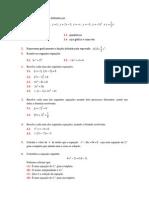 Considera as funções definidas por