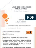 ELEMENTOS DE DISEÑO DE SEPARADORES