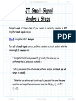 Steps for Small Signal Analysis Lecture