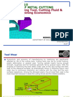 THEORY of METAL CUTTING-Cutting Tool, Cutting Fluid & Machining Economics
