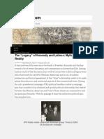 "The ""Legacy"" of Kennedy and Latinos Myth versus Reality  LatinoPOV_com"