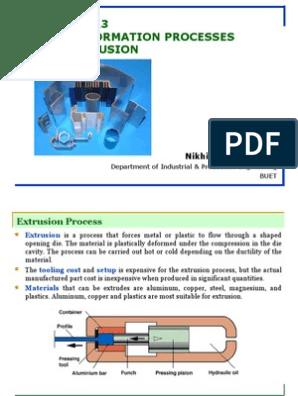 Bulk Deformation Processes Extrusion   Extrusion   Chemical Substances