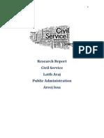 Civil Service Report