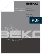 Beko WMA510 Washing Machine Guide
