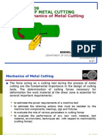 Theory of Metal Cutting-mechanics of Metal Cutting