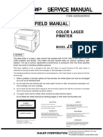 Sharp Color Laser Printer JX-8200 Service