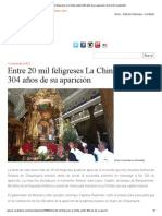 Entre 20 mil feligreses La Chinita celebró 304 años de su aparición _ Diario El Carabobeño