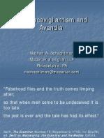 Pharmacovigilantism and Avandia
