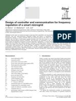 desenvolvimento de controle e comunicação para regulação de frequencia - microgrid