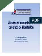 Métodos de determinación del grado de hidratación_Carlos Iglesias