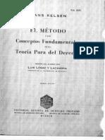 El Metodo y Los Conceptos Fundamentales de La Teoria Pura Del Derecho Hans Kelsen