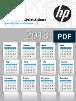 Welcome to HP ePrint & Share (Calendar 2013)