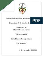 Pseint Ejercicios Info
