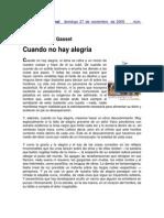 Cuando no hay alegría (Ortega y Gasset)