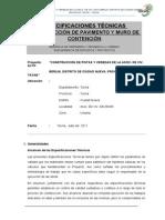 Especificaciones Tecnicas Pavimento y Muro