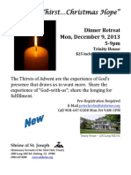Dec 2013 Dinner Retreat Flyer